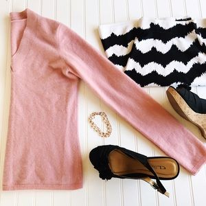 Sweaters - Pink Feels Like Cashmere V-Neck Sweater