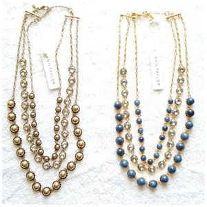 Ann Taylor Jewelry - NEW Two Ann Taylor Layered Statement Necklaces