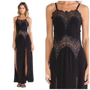 FOR LOVE AND LEMONS BOURBON LACE MAXI