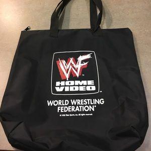 WWE Other - WWE WWF Brand New Zipper Tote Bag