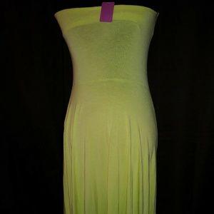 Dresses & Skirts - Lime Green Halter Dress