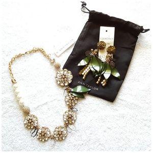 Ann Taylor Jewelry - NEW Ann Taylor Crystal Petal Necklace & Earrings
