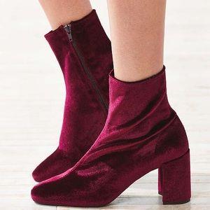 Jeffrey Campbell Wine Velvet Cienega Boots