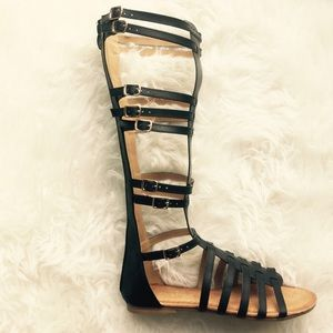 clmayfae Shoes - Black Gladiator Sandals
