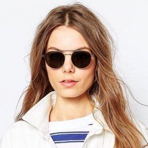 Le Specs Accessories - Le Specs 'Spartan' Round Aviator Glasses