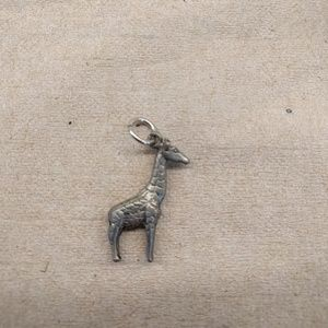 Giraffe pendant necklace charm metal
