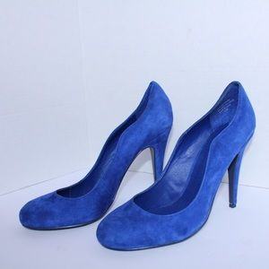 Kelsi Dagger Shoes - Kelsi Dagger Gorgeous Blue Suede Pumps