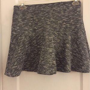 LOFT grey flair mini skirt