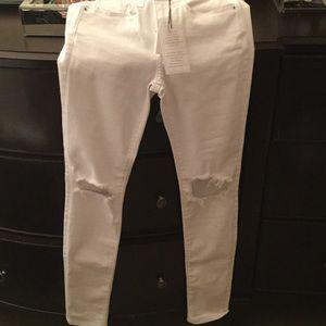 Fashion Nova Denim - NWT White ripped Jeans size 1