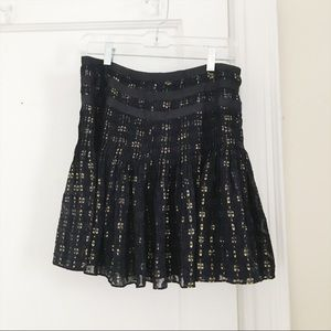 Navy and Gold J.Crew Skirt