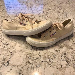 Superga Shoes - Cream Superga classic Cotu sneaker