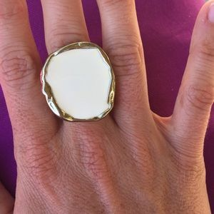 Jewelry - White and gold accent ring