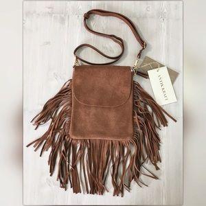 Antik Kraft Handbags - Boho Fringe CrossBody Purse Bag Antik Kraft Brown