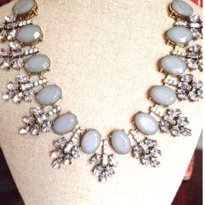 Crystal Cluster Elegant Statement Necklace.