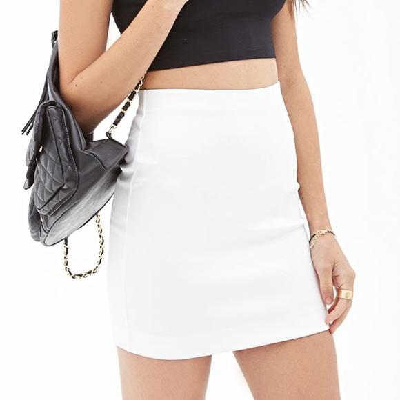 d03678616f Forever 21 Skirts | Short White Pencil Skirt | Poshmark