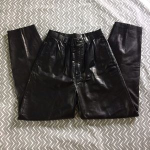 Wilsons Leather Pants - VINTAGE leather pants--high waisted, pleated front