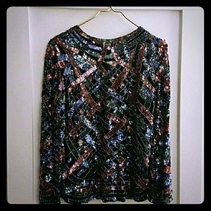 SALE! Vintage Sequined & Beaded Beauty!