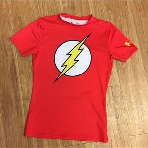 Under Armour The Flash Fitted HeatGear Shirt L Lg