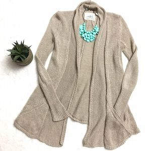 Anthropologie Sweaters - ANTHROPOLOGIE Oatmeal Linen Cream Cardigan Sweater