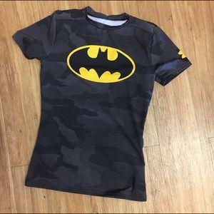 Under Armour Fitted HeatGear Batman Shirt Large
