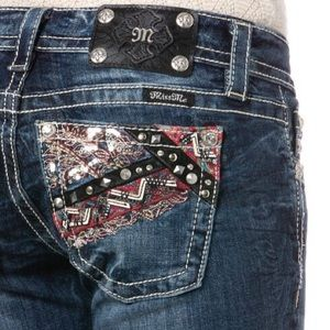 Miss Me Bootcut Embroidery, Leather, Studs & Stone
