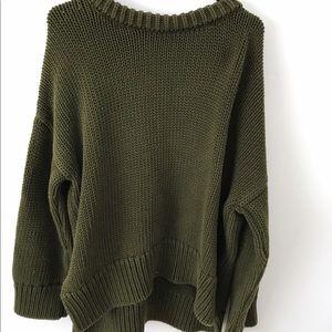 Zara green heavy knit sweater