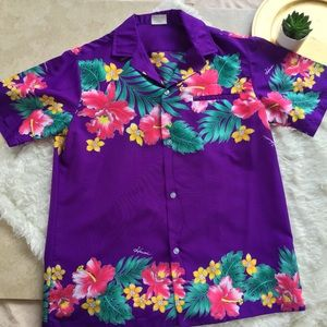 •VTG• 80's Kalena Fashions Hawaiian Shirt