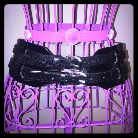34ec740b20 Black Bondage Patent Leather Waist Cincher Belt. M 59000fbea88e7d62f5003003