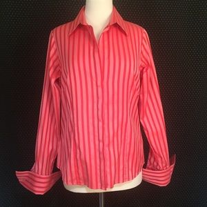 Thomas Pink Tops - Thomas Pink French Cuff Button Top Size 14