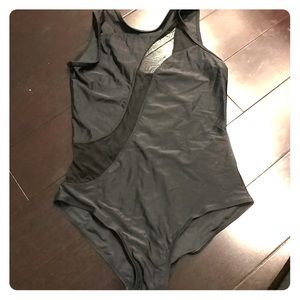 Other - Black mesh one piece swimsuit