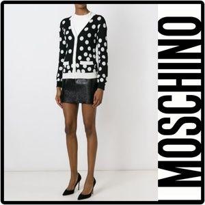 Moschino Jackets & Blazers - NWT MOSCHINO Polka Dot Cardigan