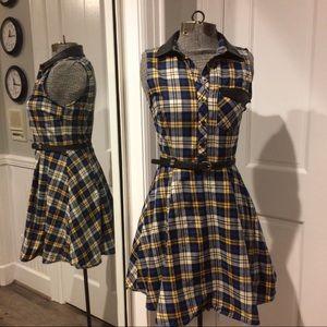 Double Zero Dresses & Skirts - Plaid Halter Dress