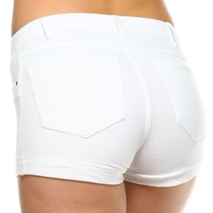 LV Designs Pants - NWT Fitted Shorts Low-rise Color: WHITE