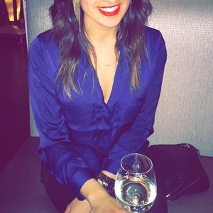 Pull&Bear Tops - Navy blue soft blouse!