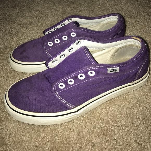 86 off vans shoes purple vans size men 7 women 85