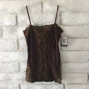 Lily White Tops - NWT Lily white chocolate lace top