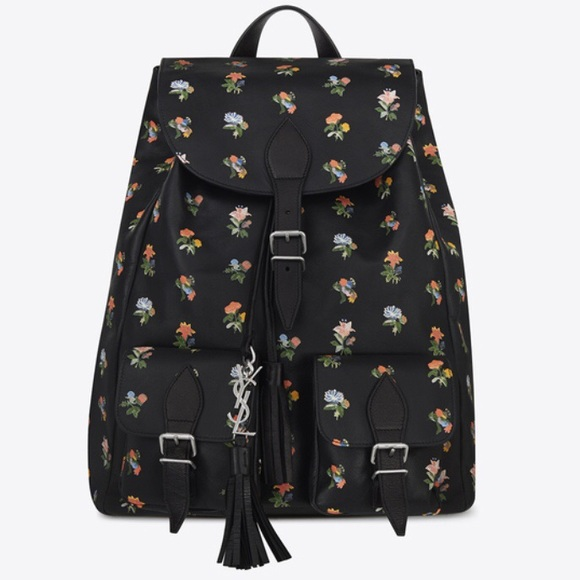 5b052a85877 Yves Saint Laurent Bags | New Ysl Flower Printed Leather Festival ...