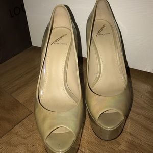 B Brian Atwood Shoes - Gold and silver heels