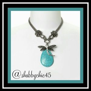 Novadab Jewelry - LAST ONE! Dragonfly Tibet Turquoise Stmt Necklace