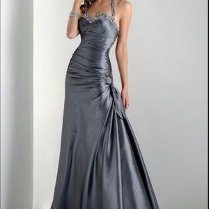 maggie soterro Dresses & Skirts - MAGGIE SOTERRO Silver Jewels Halter Formal Dress 2