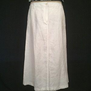 Talbots Dresses & Skirts - NWT Talbots White Linen Long Skirt Size 12