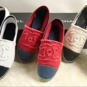 CHANEL Shoes - 🆕LISTING! Red and Navy espadrilles
