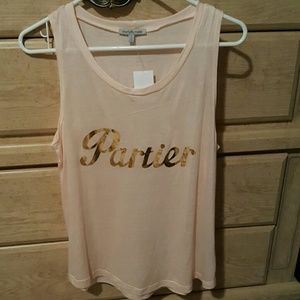 """Charlotte Russe Tops - """"Partier"""" top soft pink colored  tank"""