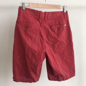 Vans Shorts - Vans Mens Red Shorts