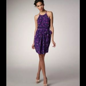 Rebecca Taylor Dresses & Skirts - REBECCA TAYLOR Batik Print Halter Dress Purple