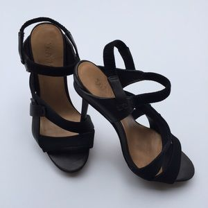 L.A.M.B. Shoes - L.A.M.B. Black Strappy High Stiletto Heels