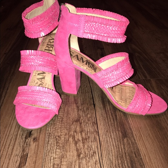 98775f067d8 Hot Pink Block heel sandals