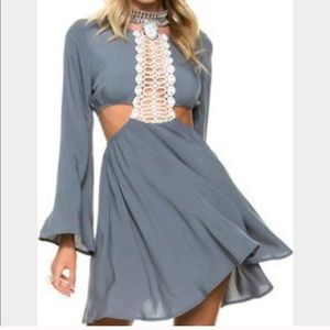 Swell Dresses & Skirts - Swell Grey cut out dress
