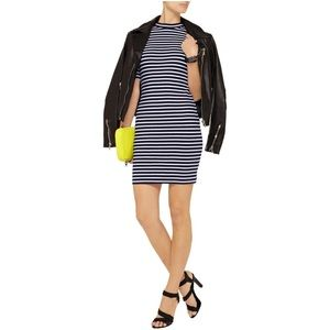 T by Alexander Wang Dresses & Skirts - Striped T by Alexander Wang fitted dress