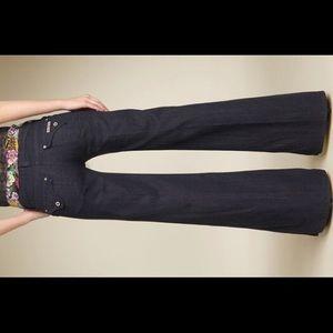 Hudson wide leg trouser jeans 31 x 29 dark blue